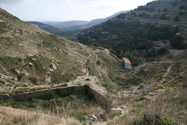 Barranc dels Molins d'Ares-Bassa del Molinet (Arest del Maestrat, Castellón)