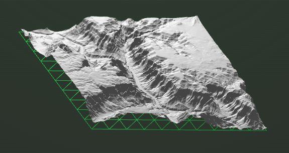 Sección 3D del cañón del río Colorado (USA)