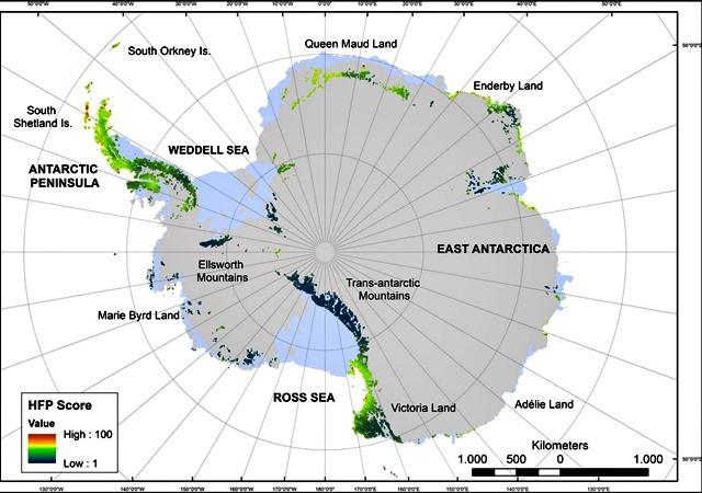 antartida mapa El impacto humano en la Antártida sobre un mapa * TYS MagazineTYS  antartida mapa
