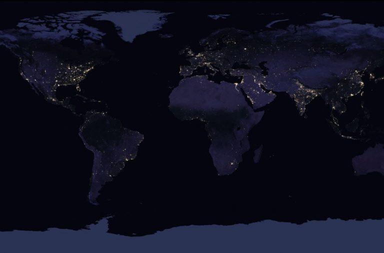 Mapa Nocturno De La Tierra 2016 Tys Magazine