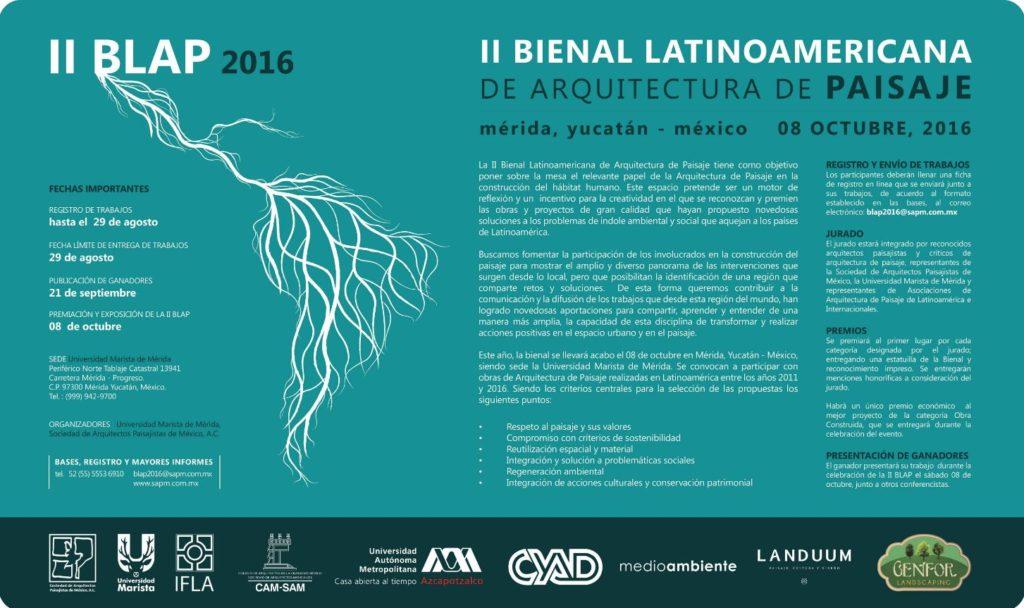 II Bienal Latinoamericana arquitectura delPaisaje
