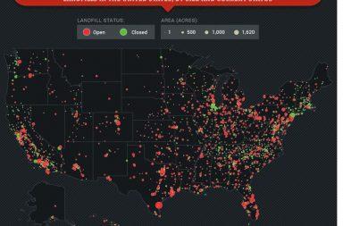 Mapeo de Vertederos en USA