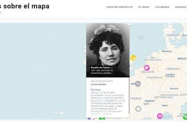 mujeres sobre el mapa
