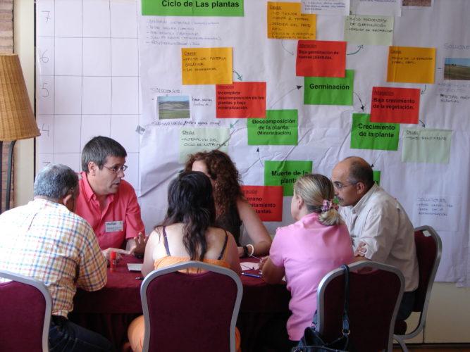 Un grupo de personas participa en un taller sobre participación. /Joris de Vente
